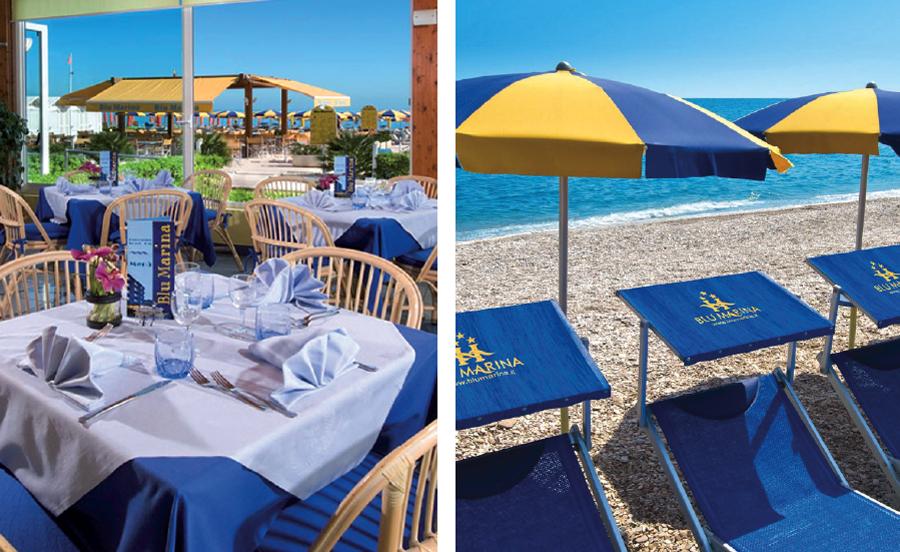 spiaggia-ristorante blu marina fano