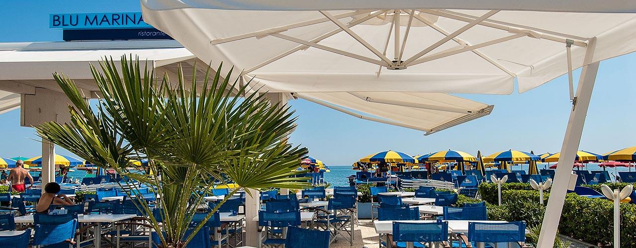 ristorante blu marina spiaggia