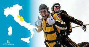 Jump with a parachute
