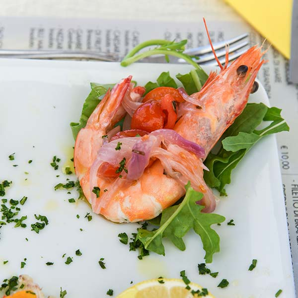gamberone menu di pesce fano